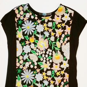 EVA FRANCO fitted embroidered tee